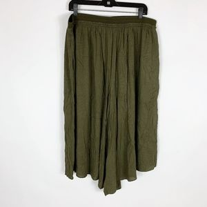 Elevenses Anthropologie Palazzo Pants XL Green
